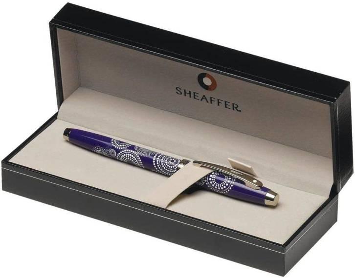 9271 RB Pióro kulkowe Sheaffer kolekcja 100, fioletowy, wzór, wykończenia chromowane