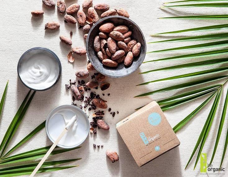 Be Organic  Krem do twarzy  Masło kakaowe & Kwas hialuronowy