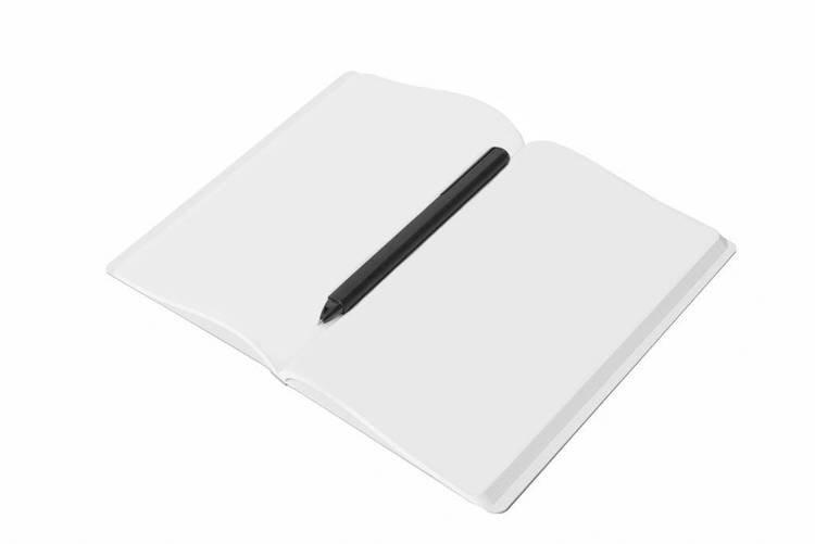 PININFARINA Segno Notes z kamienia, czerwona okładka, blok gładki